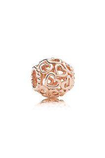 PANDORA Rose Charm Open Your Heart