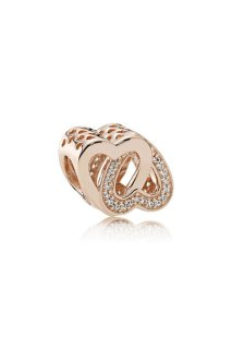 PANDORA Rose Charm Entwined Love