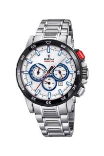 FESTINA Herrenuhr Chrono Bike 2018 Weiß/Blau