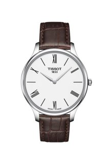 TISSOT Herrenuhr Tradition Leder