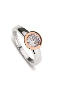 NANA KAY Classic Solitaire Ring bicolor W58