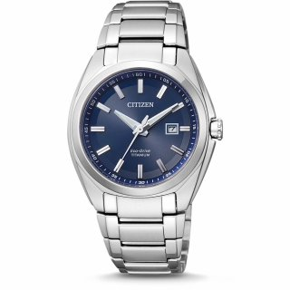 CITIZEN Damen Eco Drive Super Titanium silber/blau