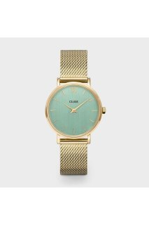 CLUSE Minuit Mesh Gold, Stone Green/Gold